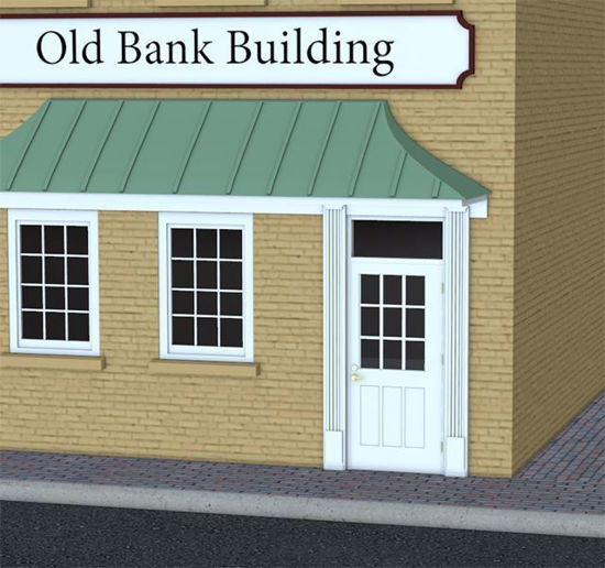 Picture of Old Bank Building Model FBX Format