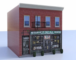 Old Bar Building Model FBX Format
