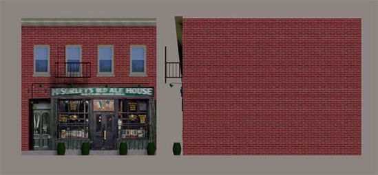 Picture of Old Bar Building Model FBX Format