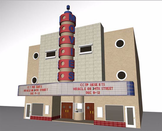 Picture of Old Movie Theater Model Poser Format