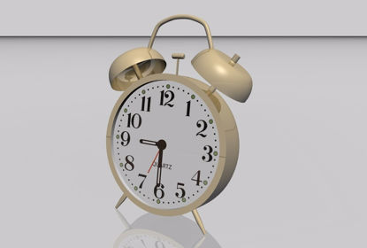 Picture of Old Style Alarm Clock Model FBX Format