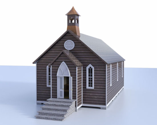 Picture of Old West Church Model Poser Format