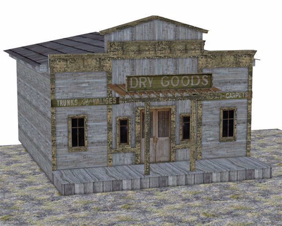 Picture of Old West Dry Goods Store Building Model Poser Format