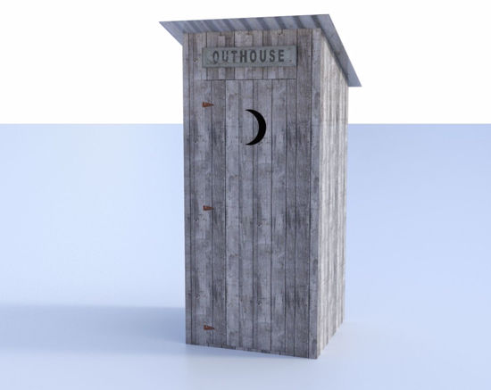 Picture of Old West Outhouse Model with Interior Poser Format