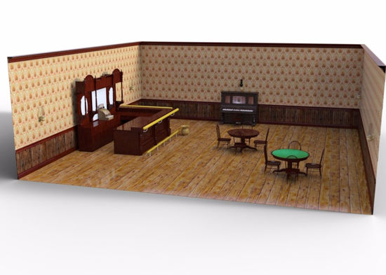 Picture of 1890's Saloon Interior Environment FBX Format