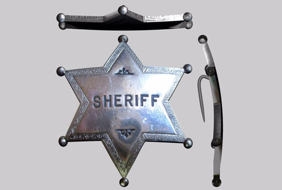 Picture of Old West Sheriff's Badge Model FBX Format