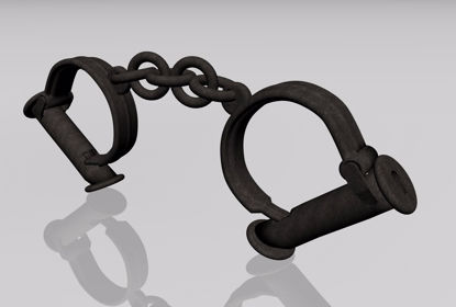 Picture of Old West Handcuffs Mechanical Model FBX Format