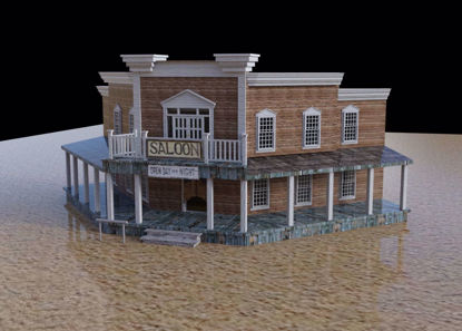 Picture of Old West Saloon Scene Poser Format