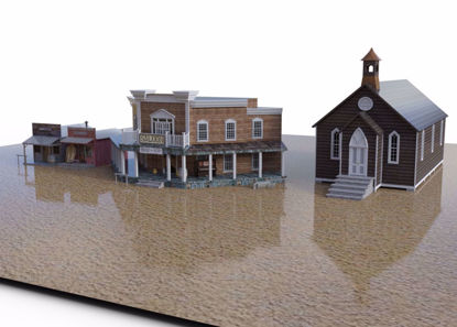 Picture of Old West Town Street Environment Poser Format