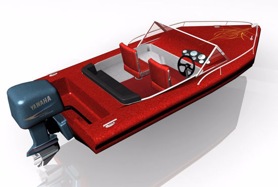 Picture of Outboard Motor Boat Model FBX Format
