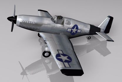 Picture of P-51 Mustang Fighter Plane Model FBX Format