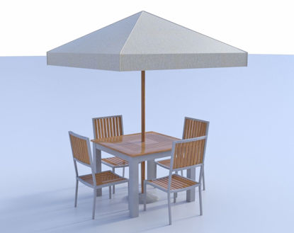 Picture of Outdoor Dining Furniture Models Poser Format