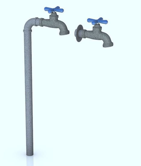 Picture of Outdoor Water Faucet Models Poser Format