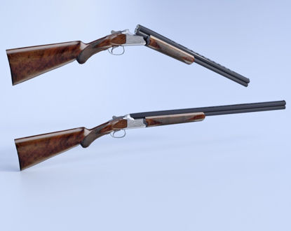 Picture of Over and Under 12 Gauge Shotgun Model Poser Format