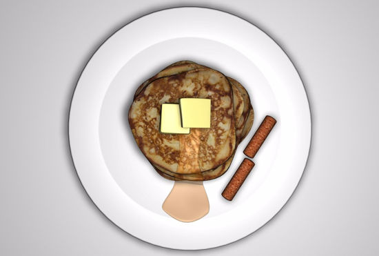 Picture of Pancakes and Sausage Food Models FBX Format