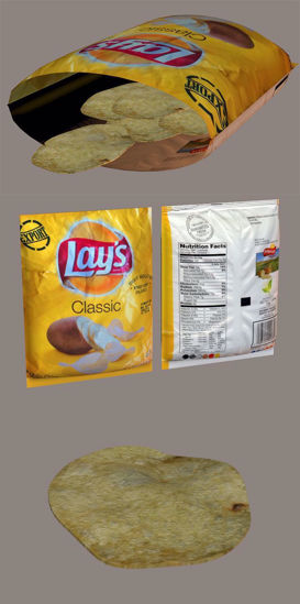 Picture of Potato Chips and Bag Models Poser Format