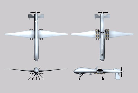 Picture of Predator UAV Drone Model FBX Format