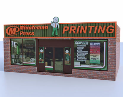 Picture of Printing Store Building Model Poser Format