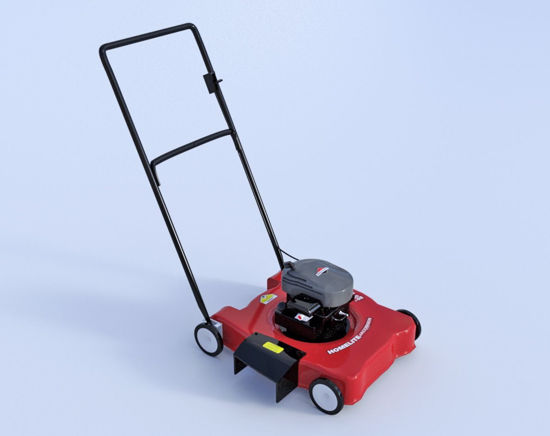 Picture of Push Lawn Mower Model Poser Format