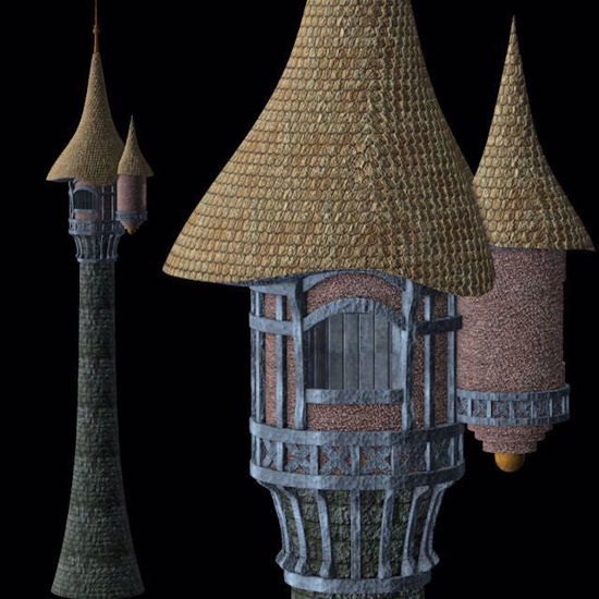 Picture of Rapunzel's Tower Model Poser Format