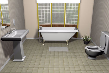 Picture of Residential Bathroom Environment FBX Format