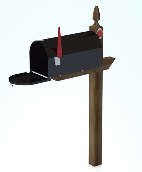 Picture of Residential Mailbox Model with Movements Poser Format