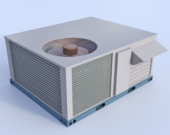 Picture of Rooftop A/C Unit Model Poser Format