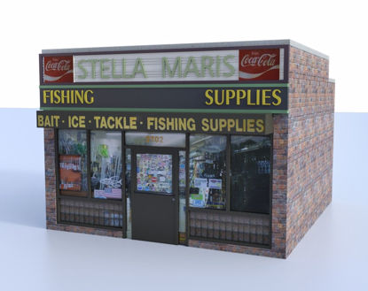 Picture of Roadside Bait Store Building Model FBX Format