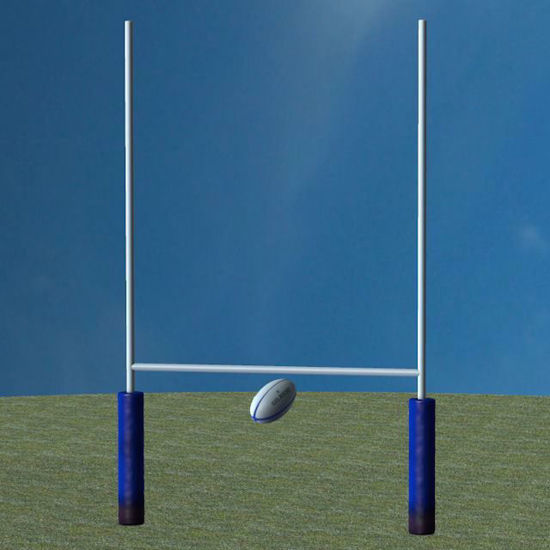 Picture of Rugby Ball and Goal Models Poser Format