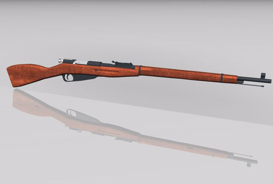 Picture of Russian M1891 Rifle Model FBX Format
