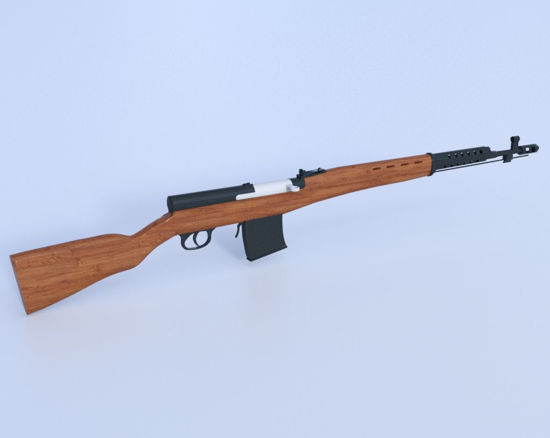 Picture of Russian SVT-40 Rifle Model Poser Format
