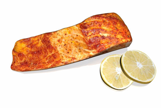 Picture of Salmon Steak Model FBX Format