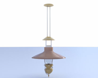 Picture of Saloon Oil Lamp Ceiling Fixture Model Poser Format