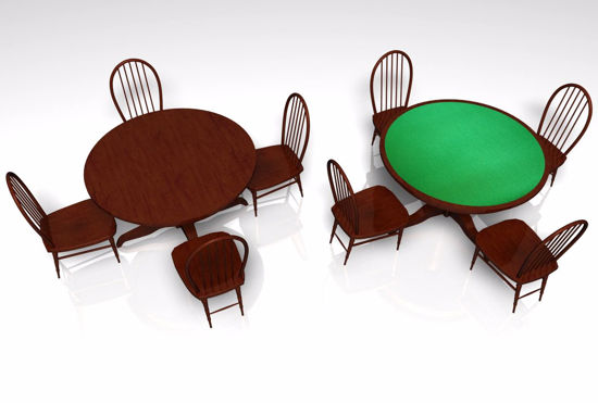 Picture of Saloon Table Furniture Models FBX Format
