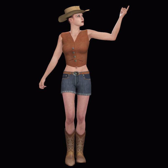 Picture of Sassy Cowgirl Outfit for DAZ Victoria 4