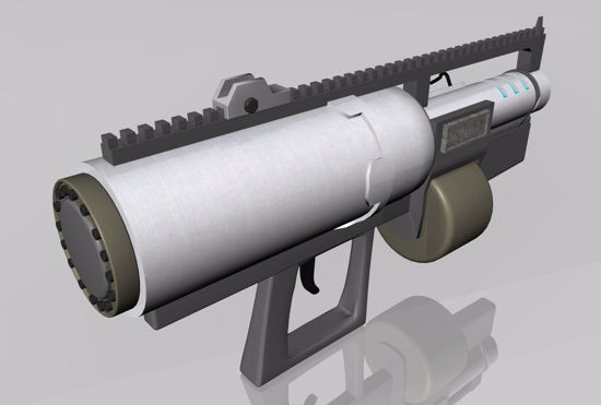 Picture of Sci-Fi Assault Rifle Weapon Model FBX Format