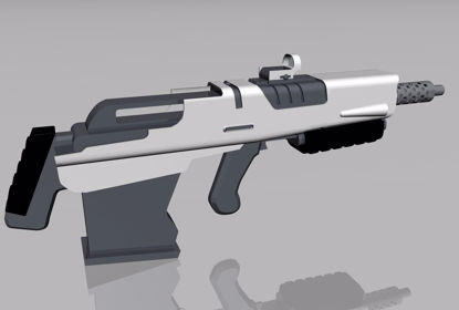 Picture of Sci-Fi Rifle Weapon Model 2 FBX Format