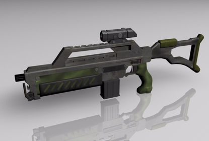 Picture of Sci-Fi Rifle Weapon Model FBX Format