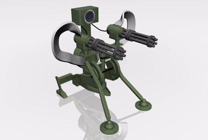 Picture of Sci-Fi Sentry Weapon Model FBX Format