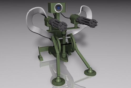 Picture of Sci-Fi Sentry Weapon Model Poser Format