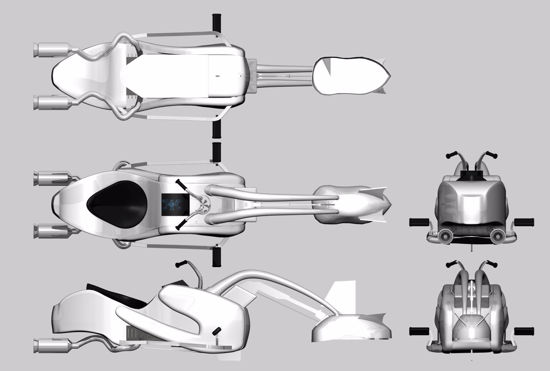 Picture of Sci-Fi Swoop Bike Model FBX Format