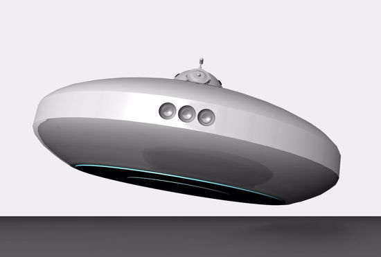 Picture of Sci-Fi UFO Spacecraft Model FBX Format