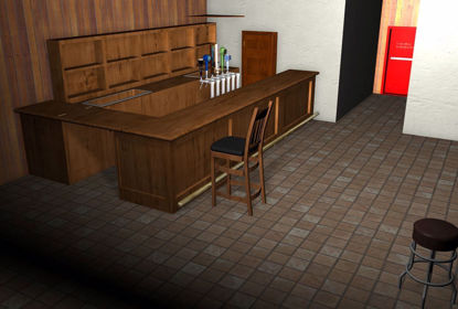 Picture of Seedy Bar Interior Environment FBX Format
