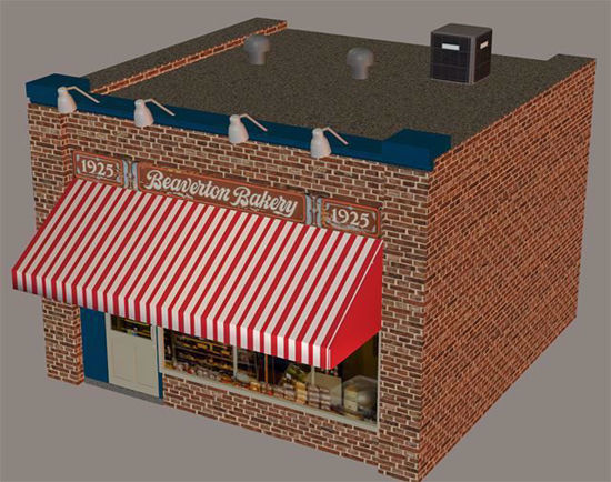 Picture of Small Town Bakery Building Model Poser Format