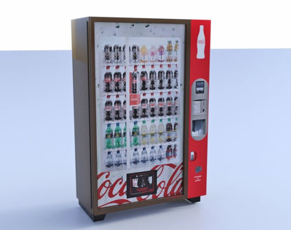 Picture of Soft Drink Vending Machine Model FBX Format