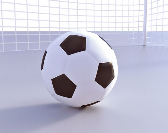 Picture of Soccer Goal and Ball Models Poser Format