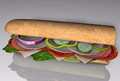 Picture of Sub Sandwich Food Model FBX Format