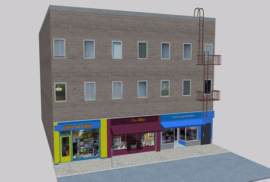 Picture of Three Store Building Environment FBX Format