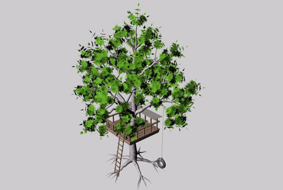 Picture of Tree Fort Environment FBX Format