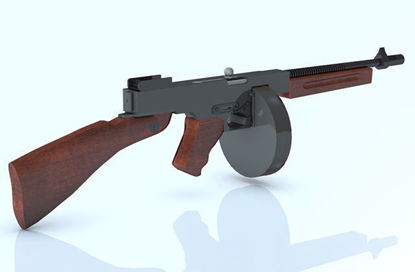 "Picture of Thompson ""Tommy"" Sub-Machine Gun Model Poser Format"